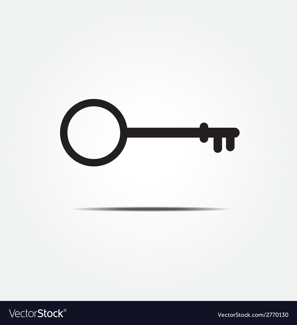 Key symbol icon vector image
