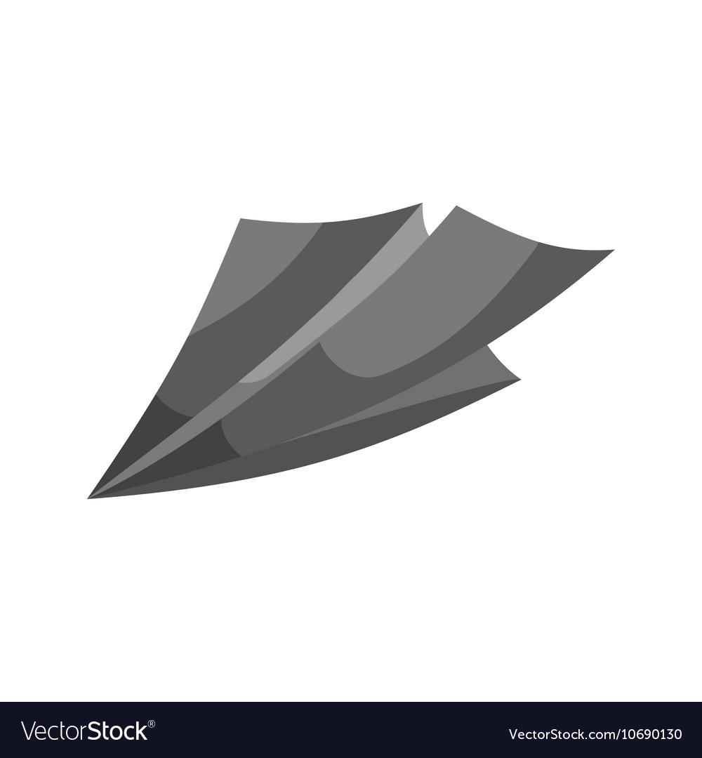 Paper plane sign icon black monochrome style
