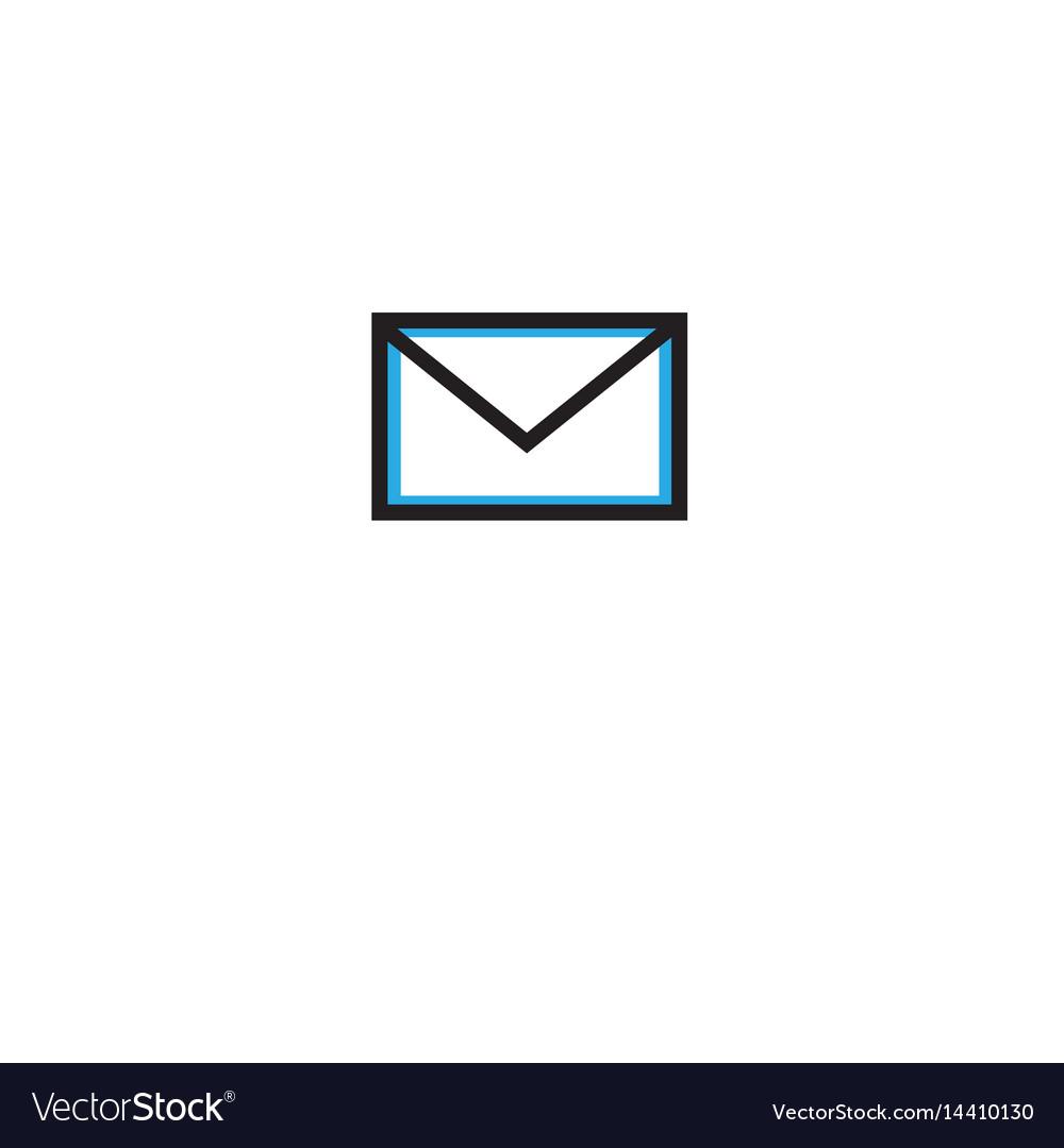 Postal envelope icon