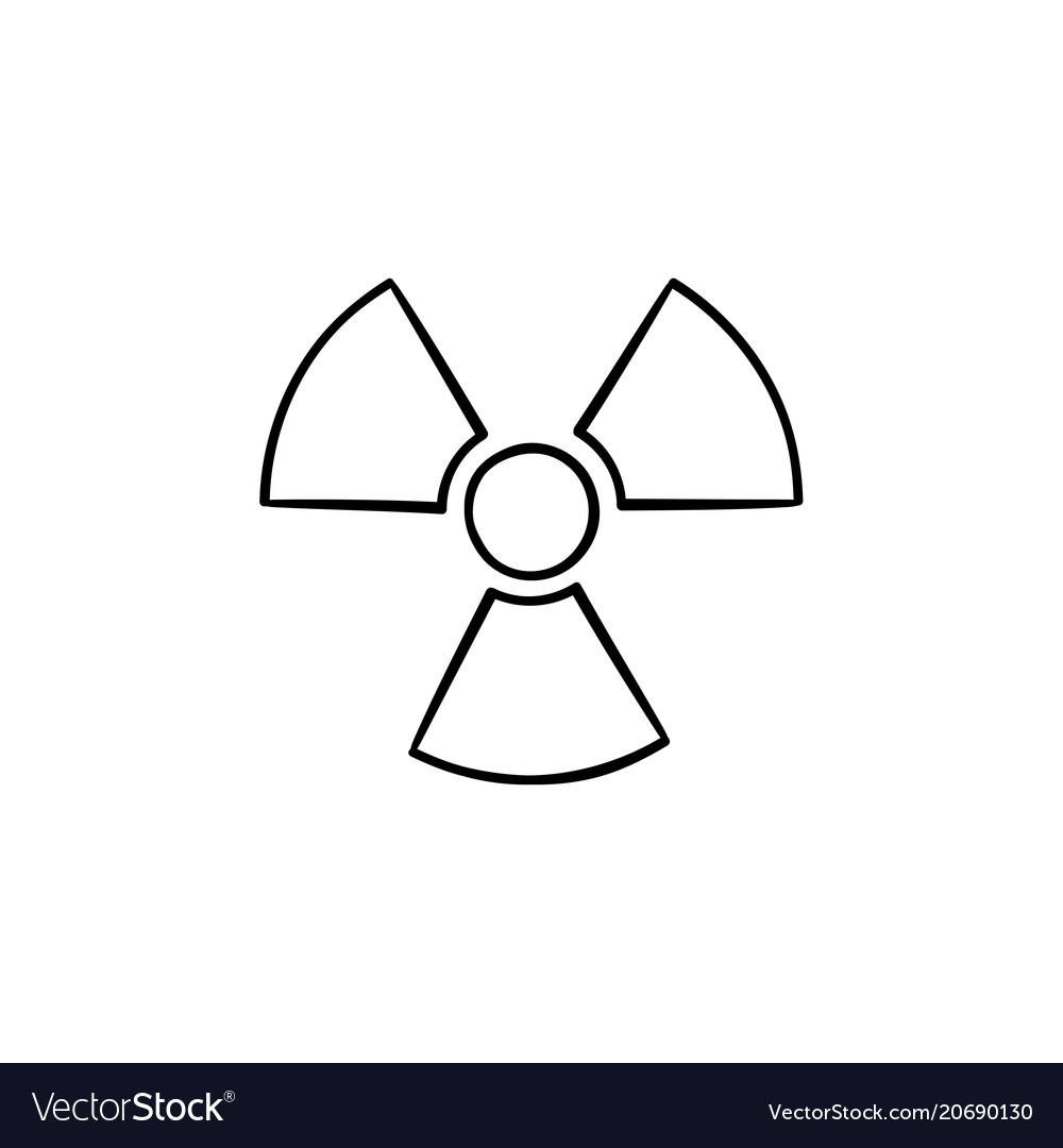 Radioactive sign hand drawn sketch icon