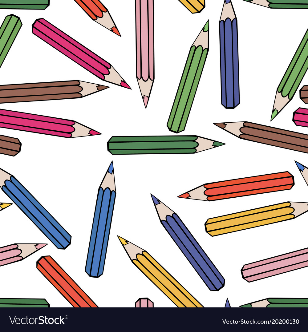Seamless pattern background pencil