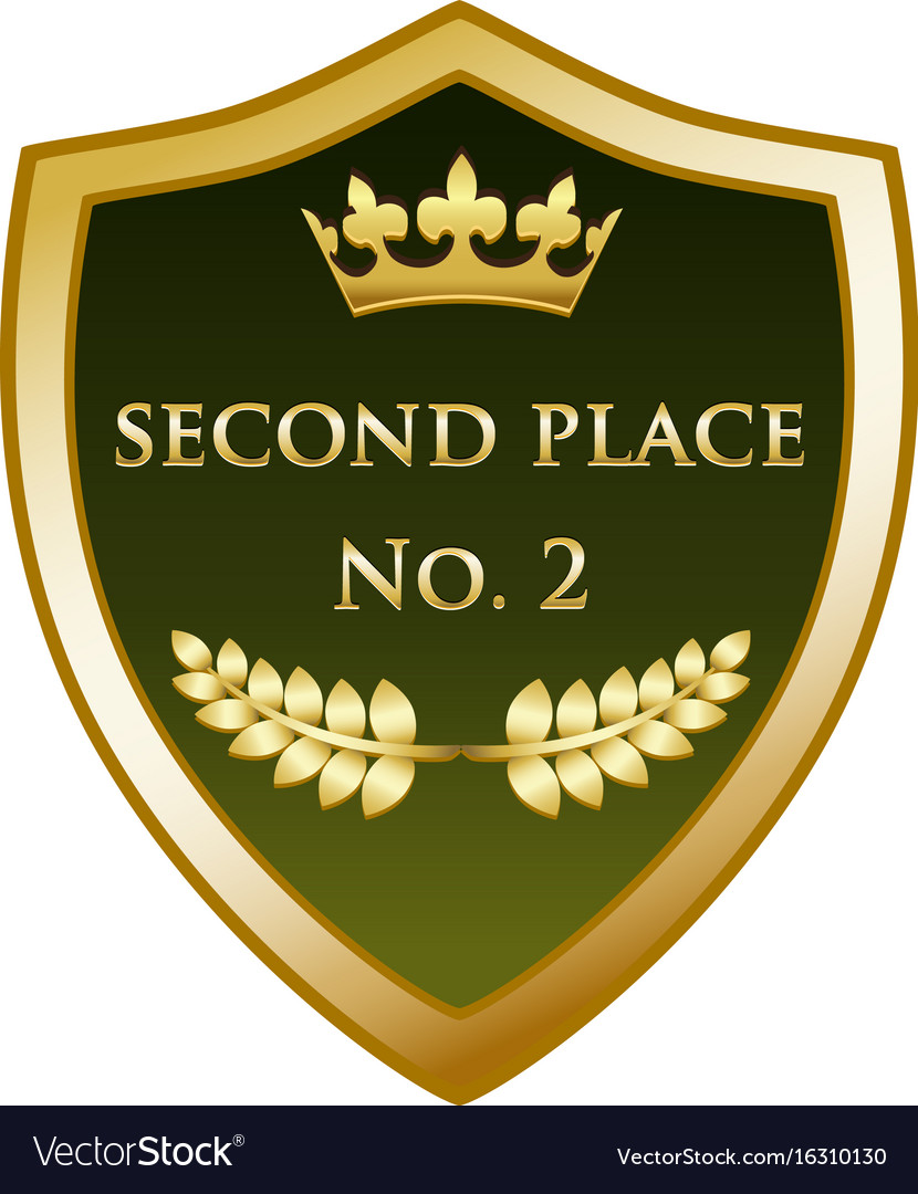 Second place gold shield