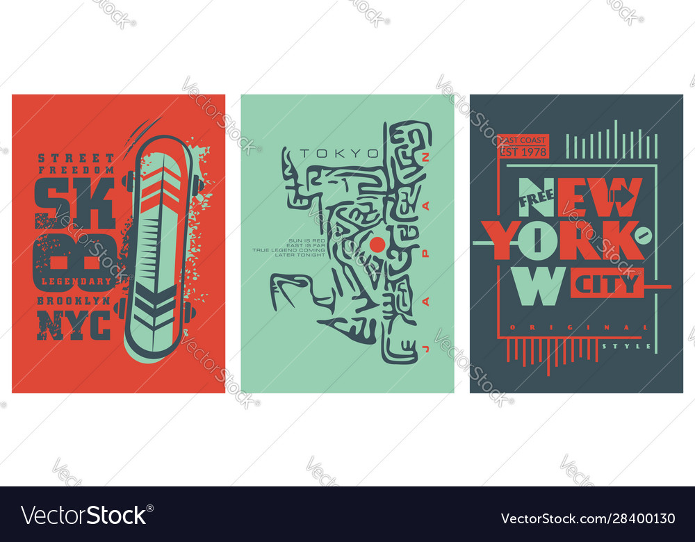 Tee shirt or apparel design trendy collection