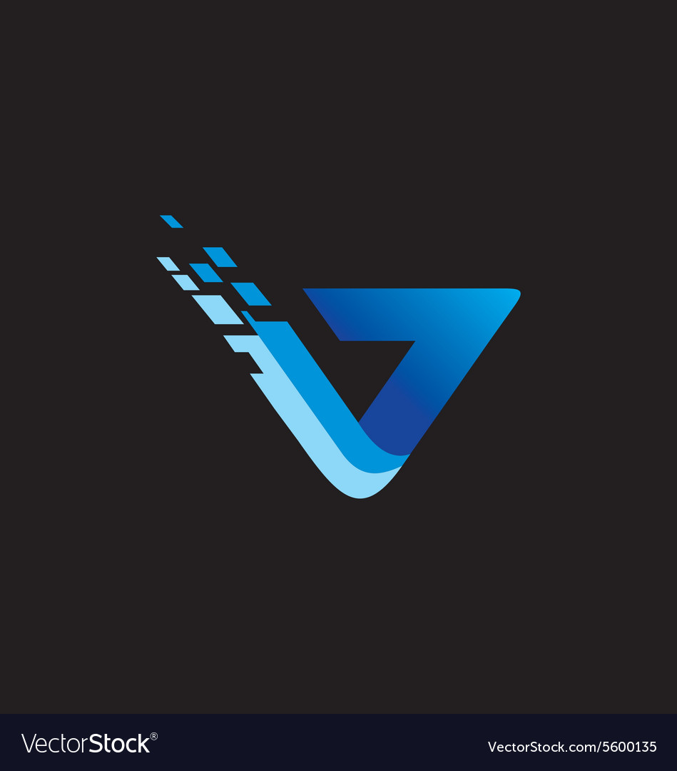 Abstract technology blue logo vector image