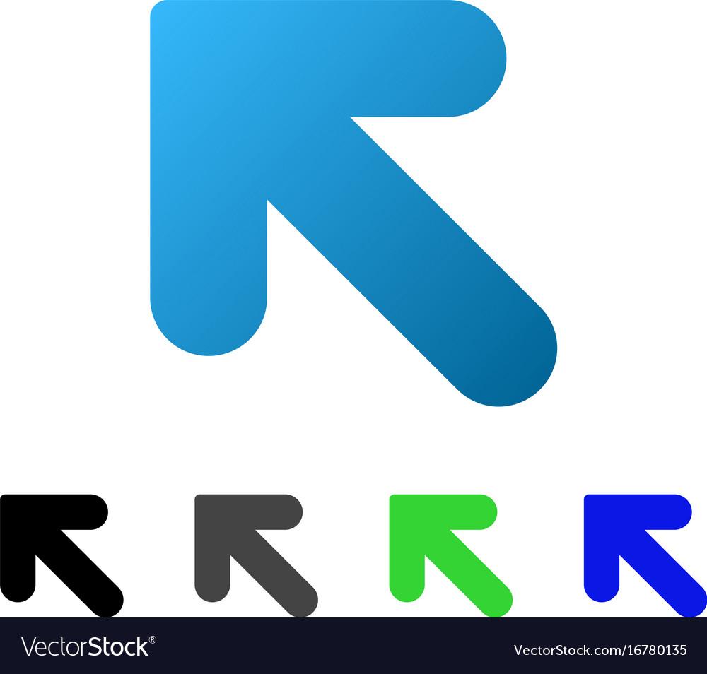 Arrow up left flat gradient icon