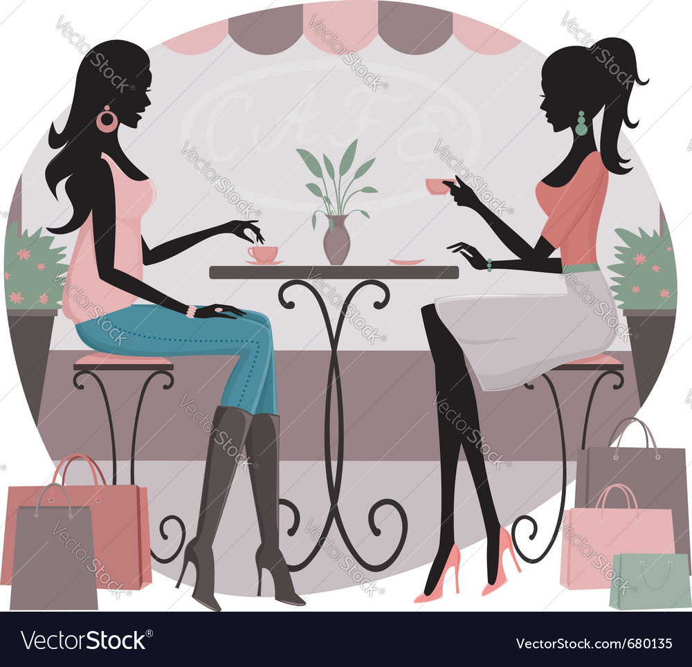 Coffee after shopping vector image