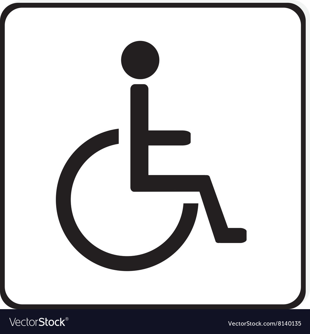 disabled handicap sign royalty free vector image rh vectorstock com handicap vector symbol handicap vector symbol