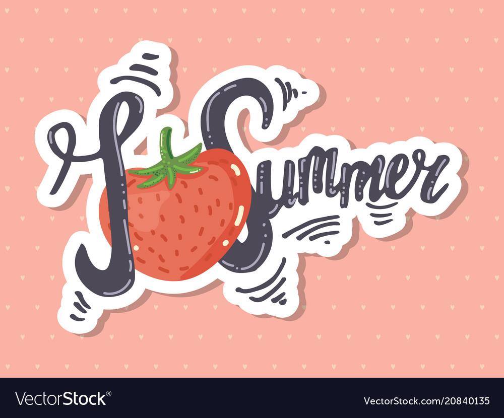 I love summer lettering