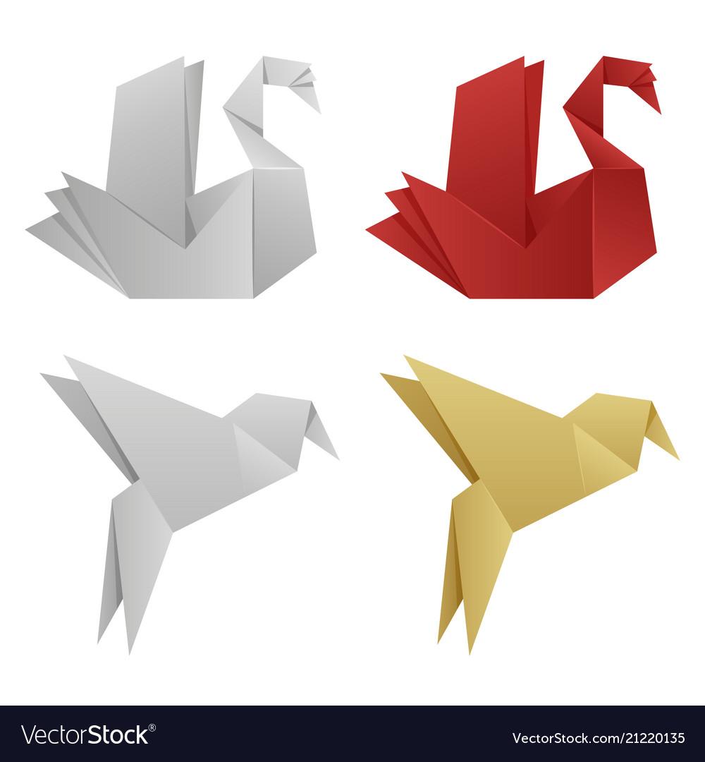 Japanese origami birds