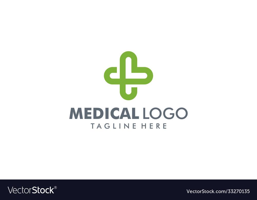Medical pharmacy logo design template