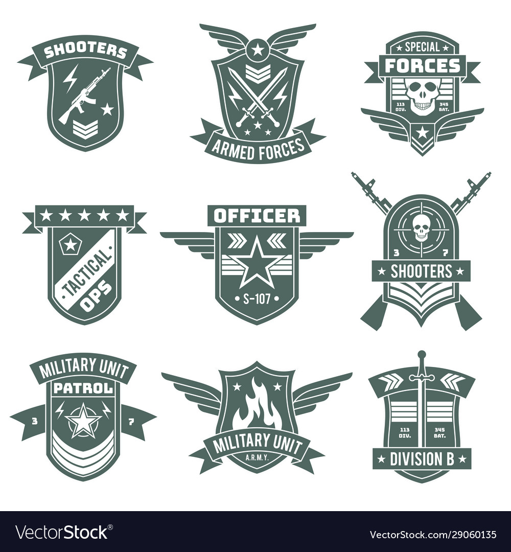 Military badges army patches embroidery chevron