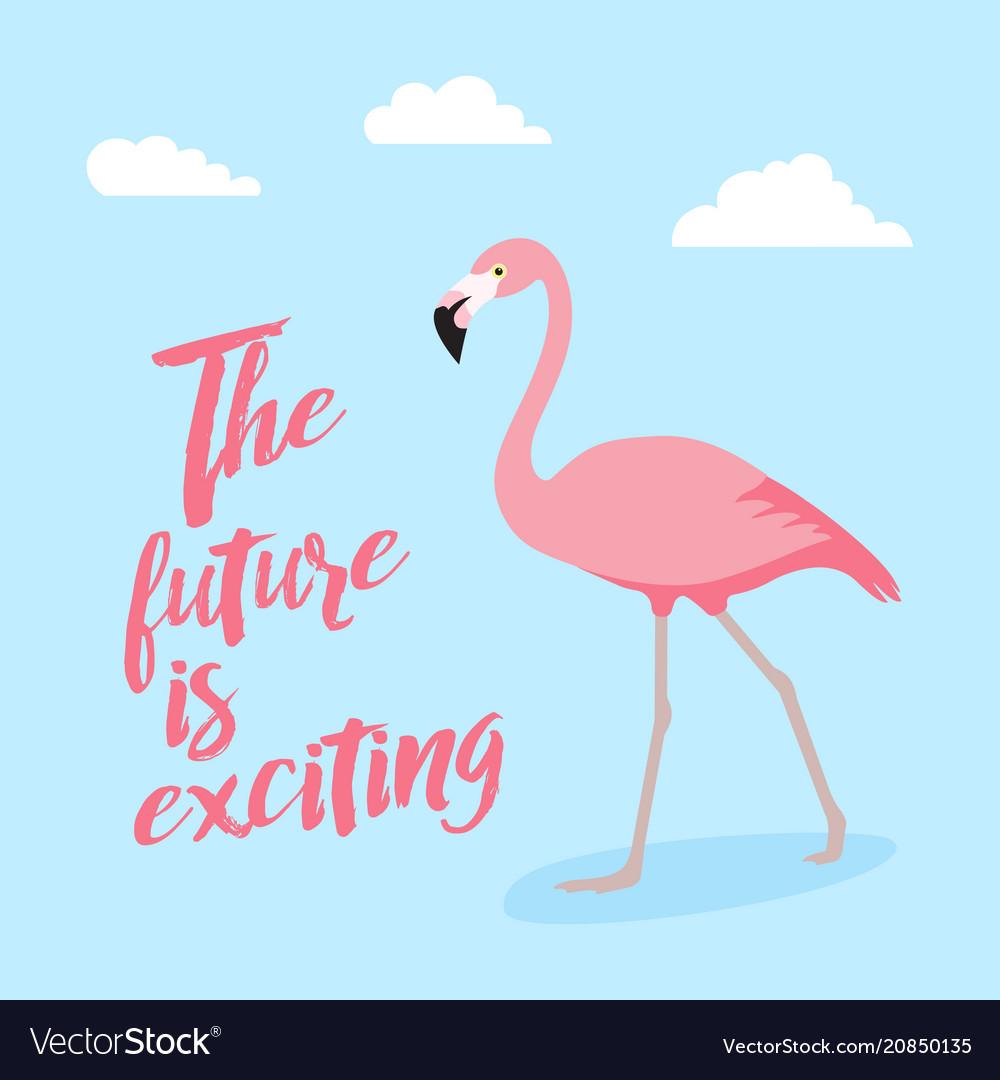 Pink flamingo icon over white background