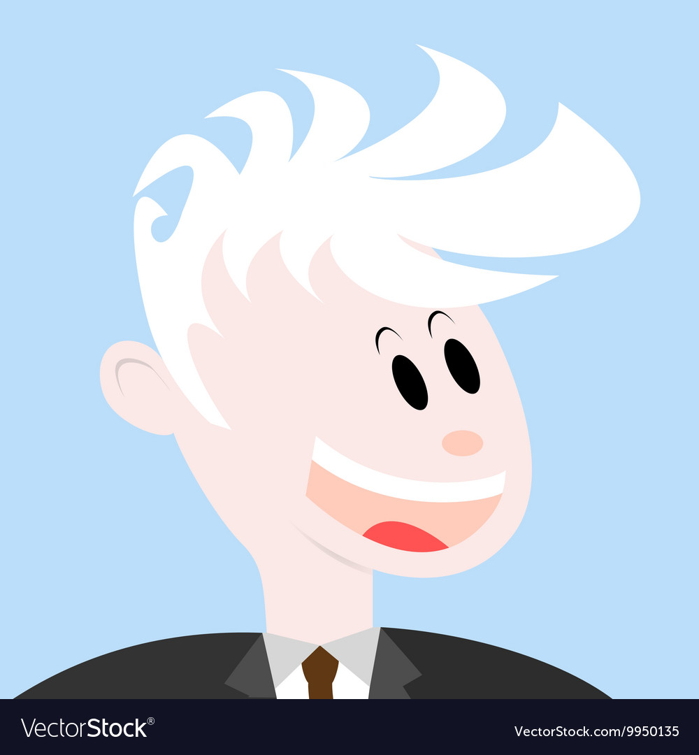 Portrait of a smiling man vector image