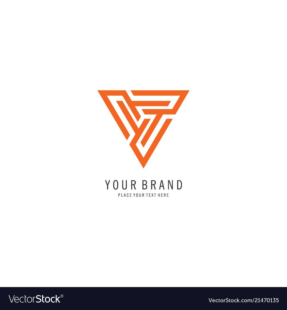 Triangle finance symbol logo
