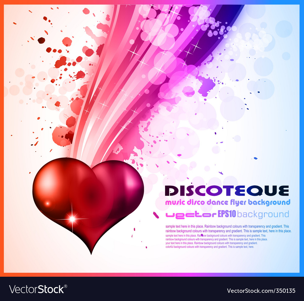 Valentines Day Flyer Royalty Free Vector Image