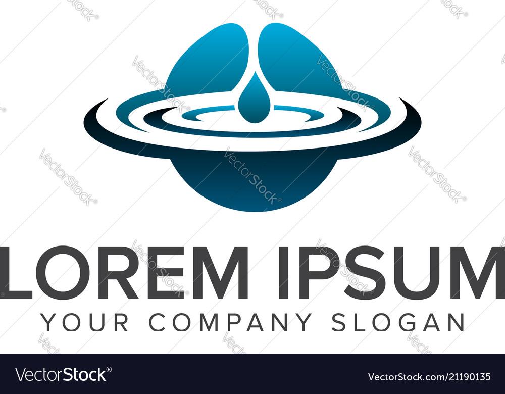 Water drop logo natural logos concept design