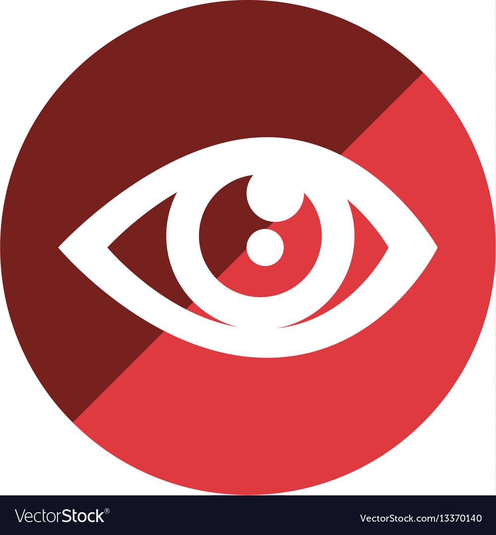 Color circular emblem with eye icon
