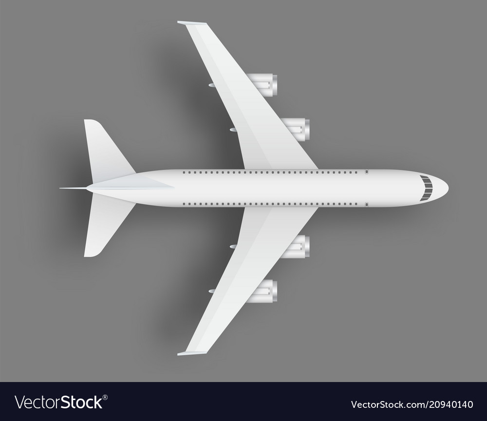 Creative of plane isolated on