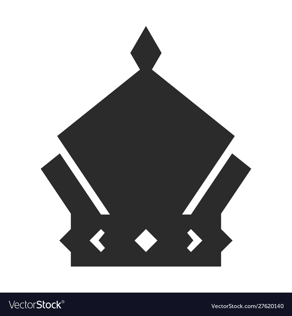 Crown icon black symbol monarch and authority