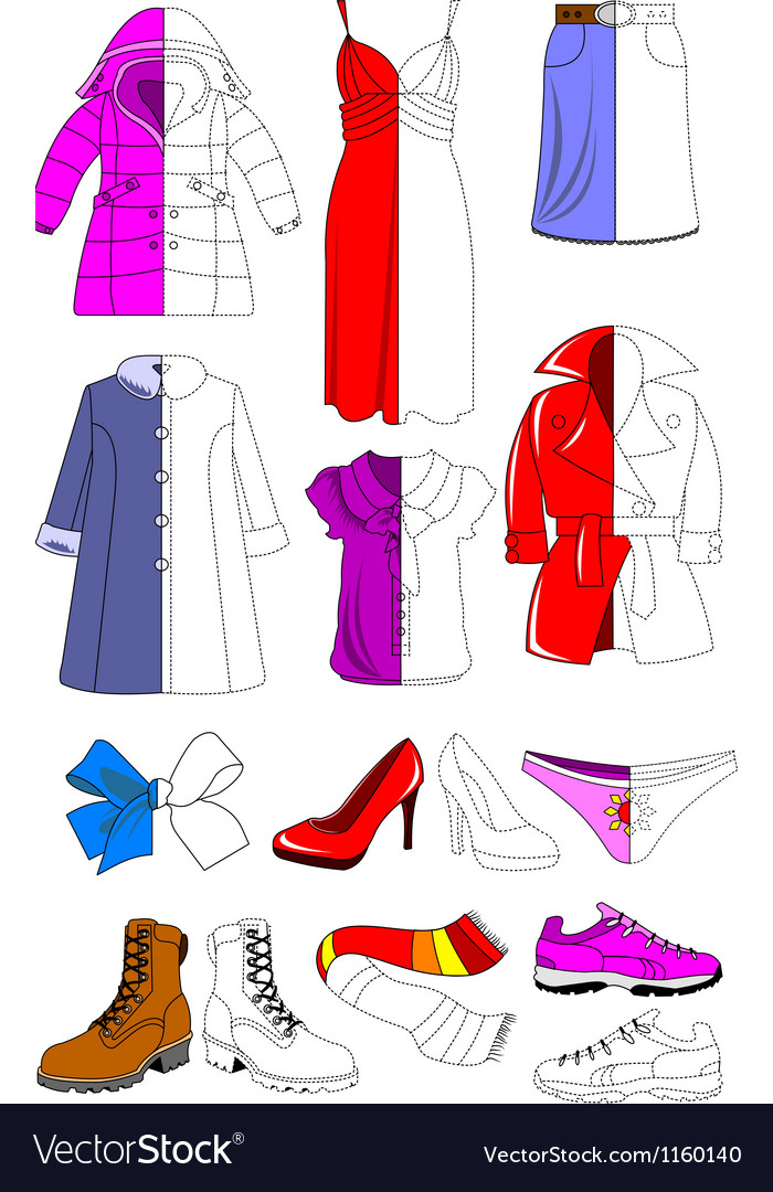 Female wardrobe vector image