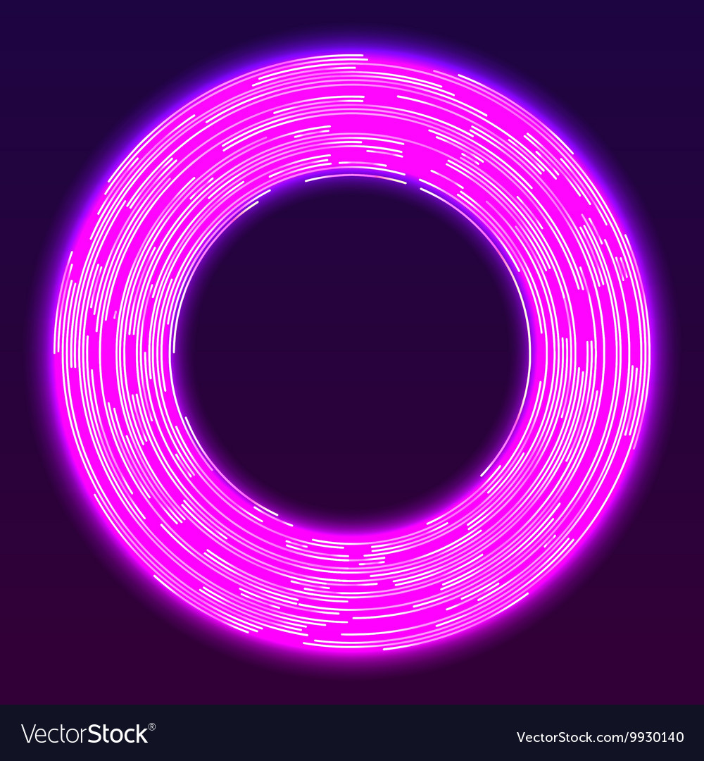 Glowing neon ring background