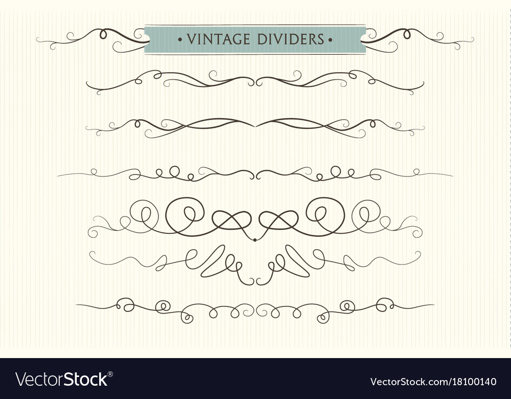 Hand drawn flourishes dividers graphic lovely