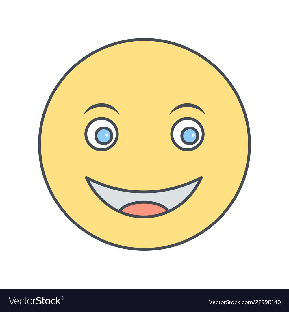 Happy emoji icon Vector Image