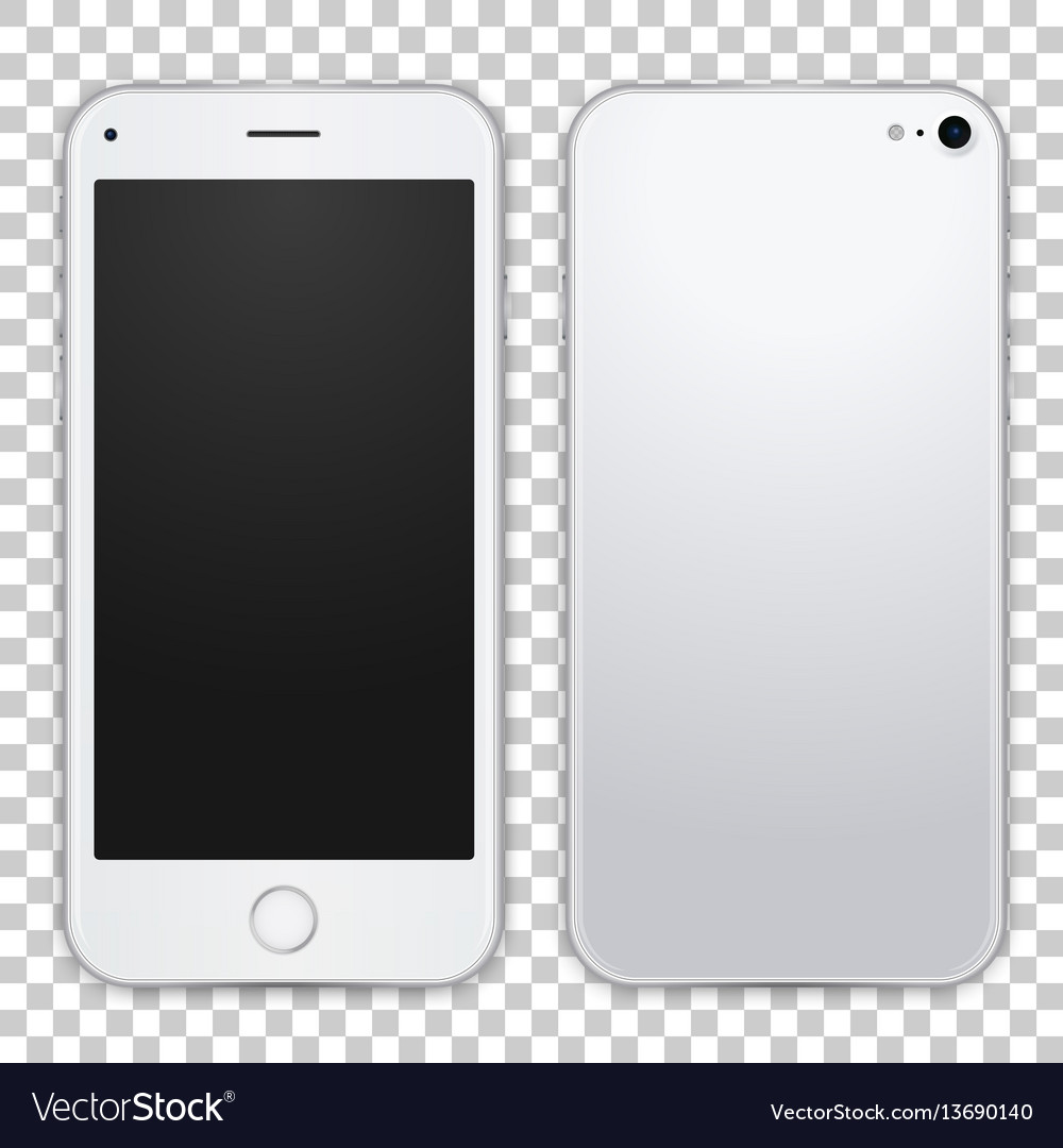 Light grey smartphone template front and black