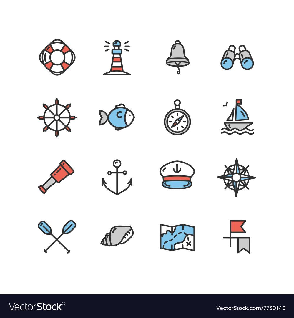 Nautical Sea Icon Set