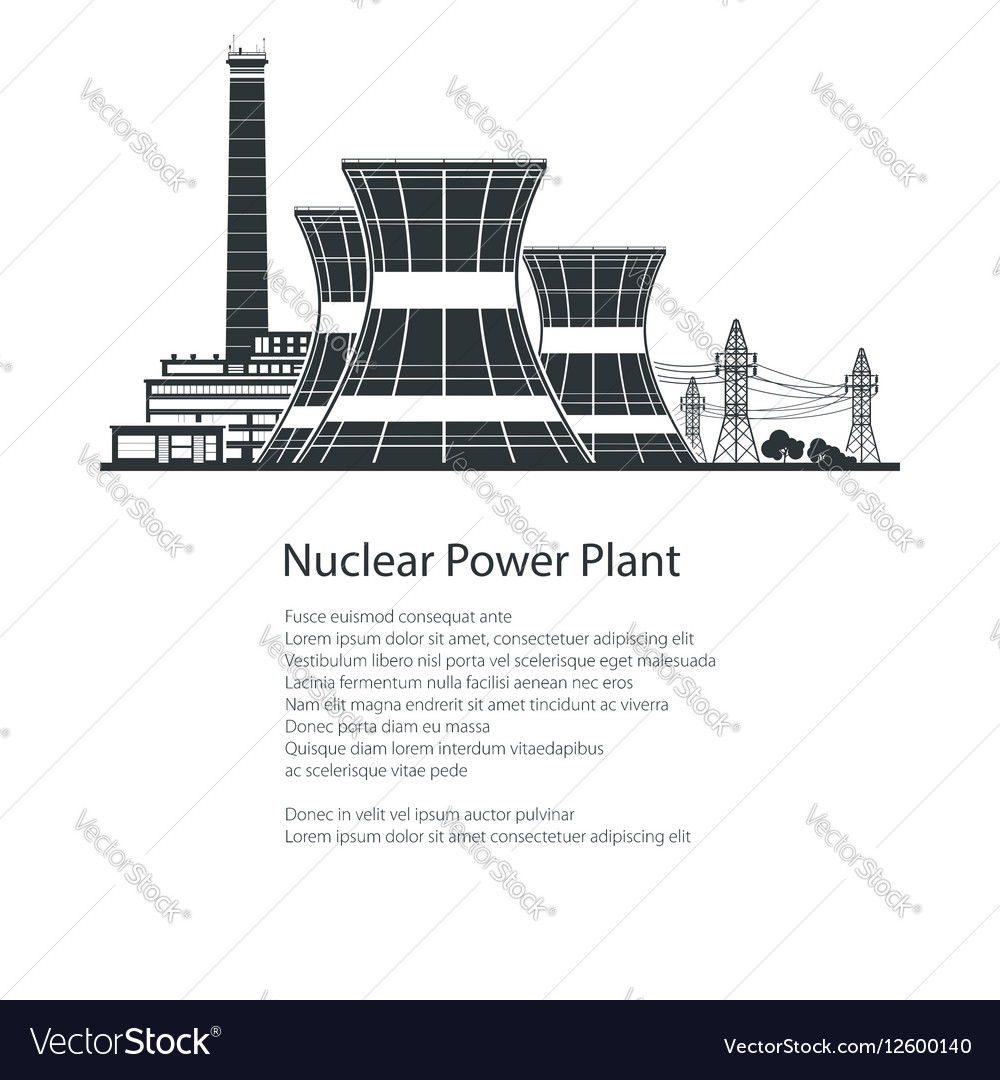 Nuclear Power Plant Poster Brochure Design