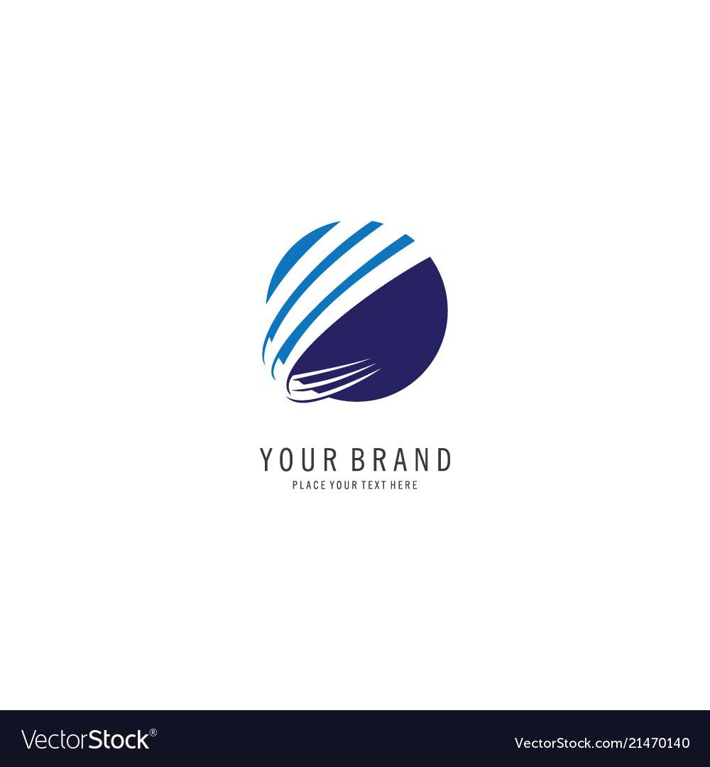 Round finance symbol logo