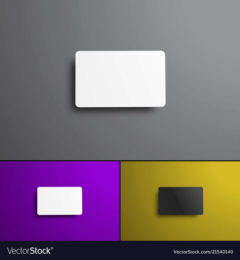Set of mock-ups for a bank and gift card top view