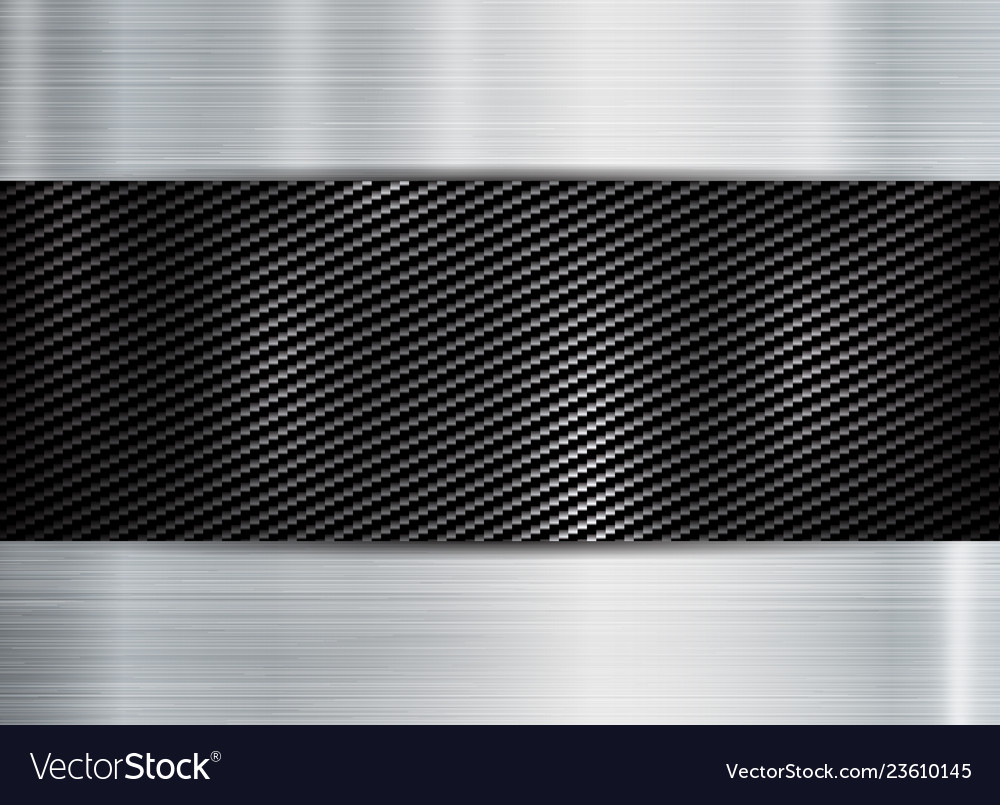 Abstract metallic frame carbon kevlar texture on