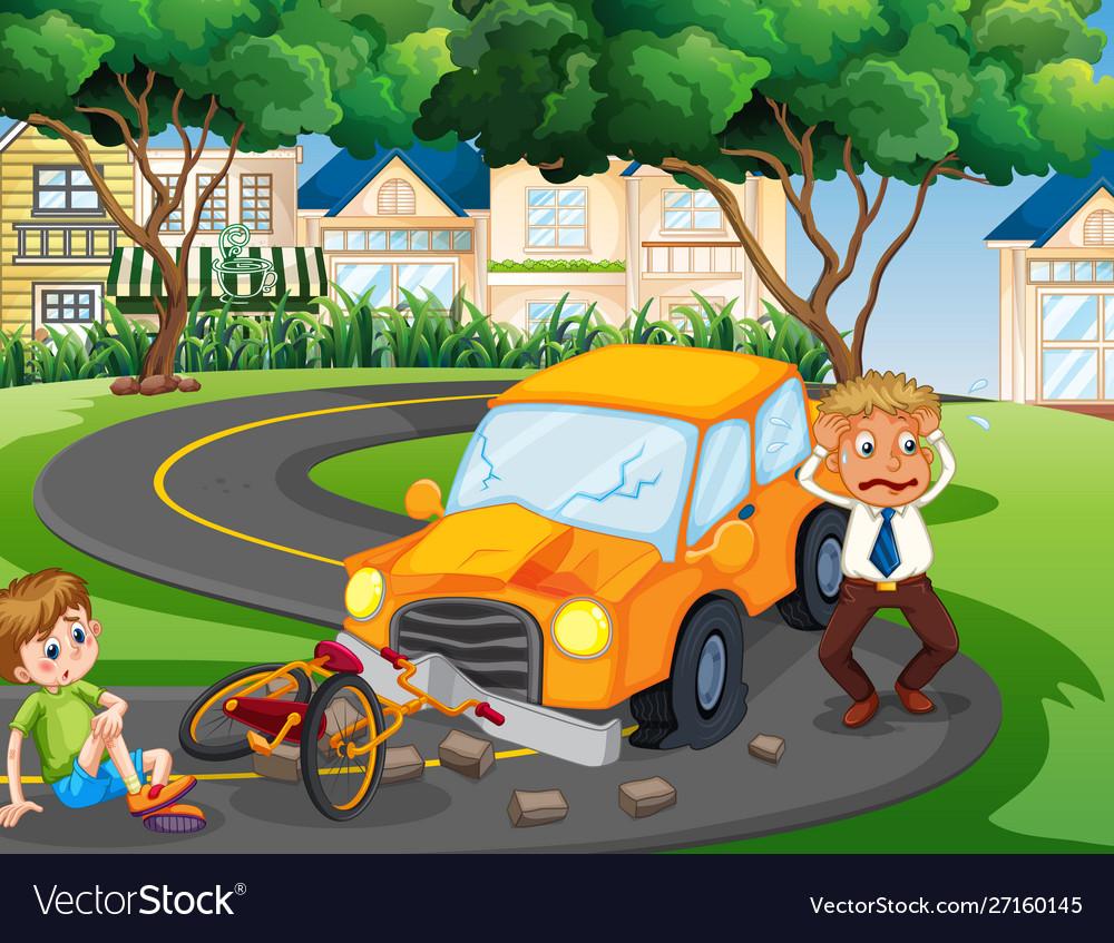 Car crash - stock vector clipart