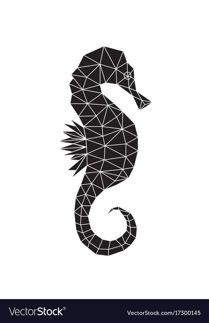 black silhouette of seahorse royalty free vector image rh vectorstock com seahorse vector illustration seahorse vector graphics