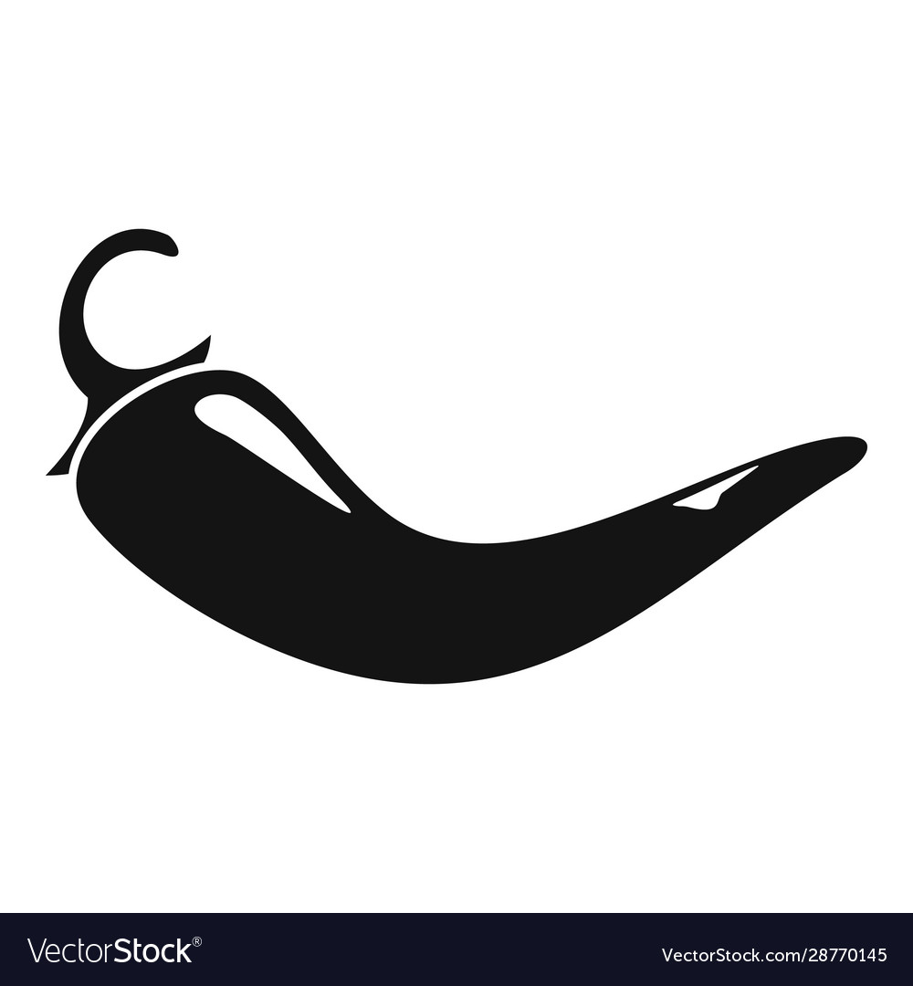 Culinary chili pepper icon simple style