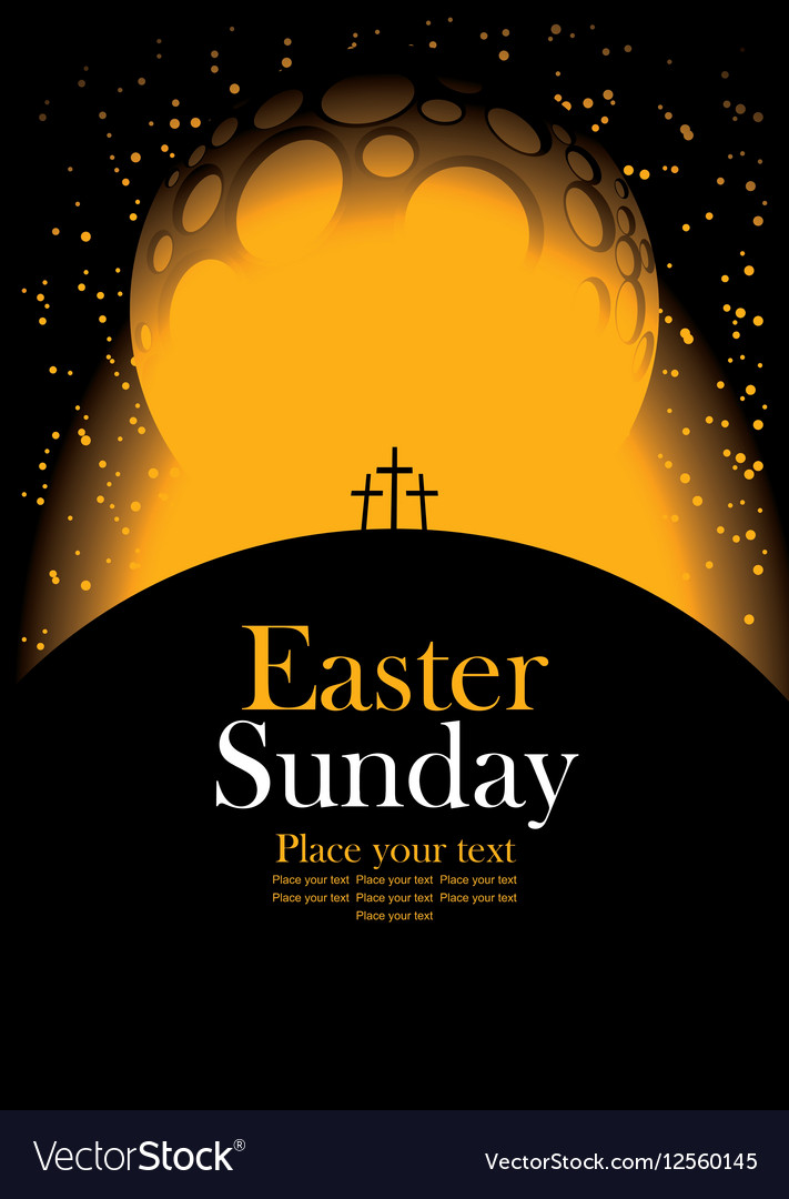 Easter with Calvary and crosses
