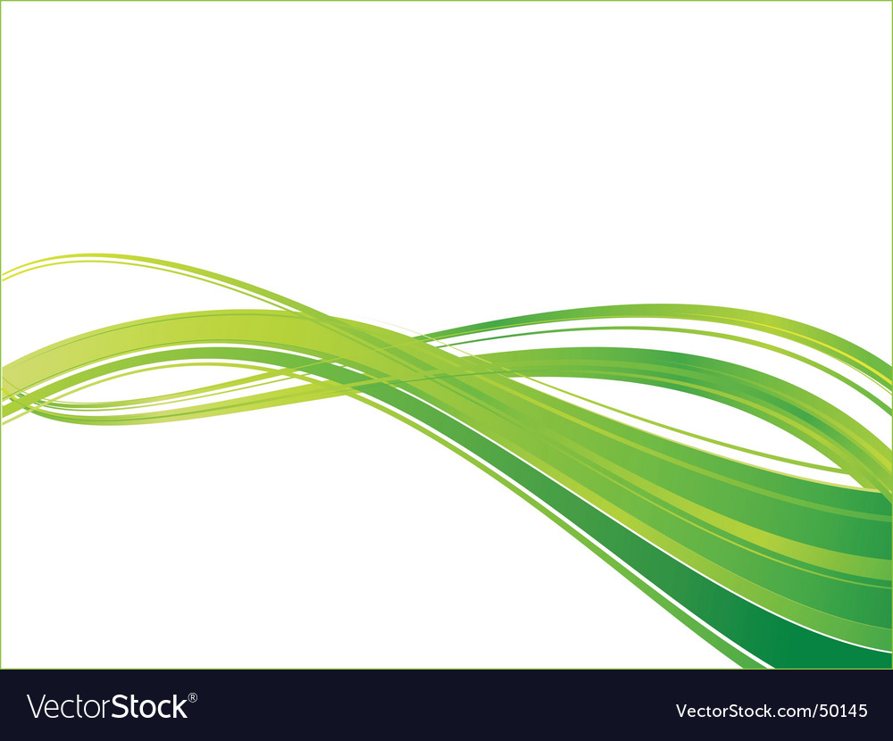 Green ecology wave background template