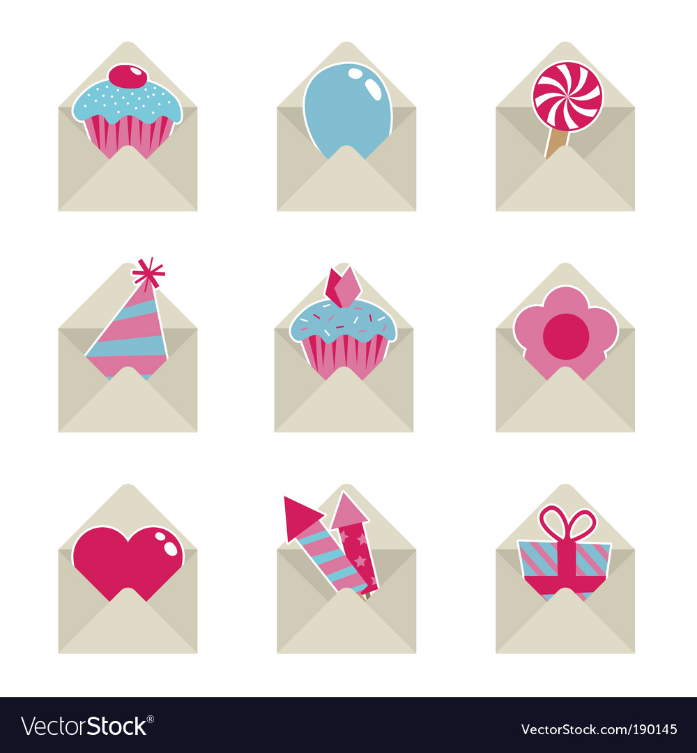 Mail party icons