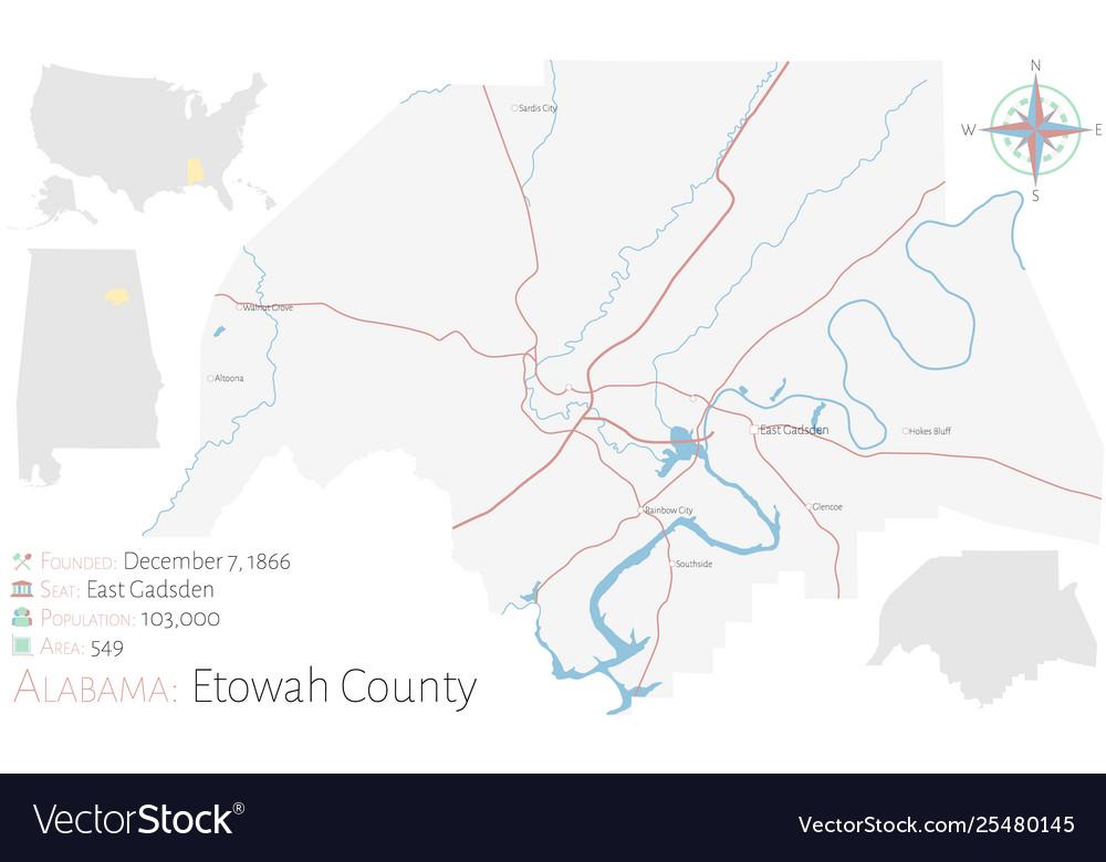 Map etowah county in alabama