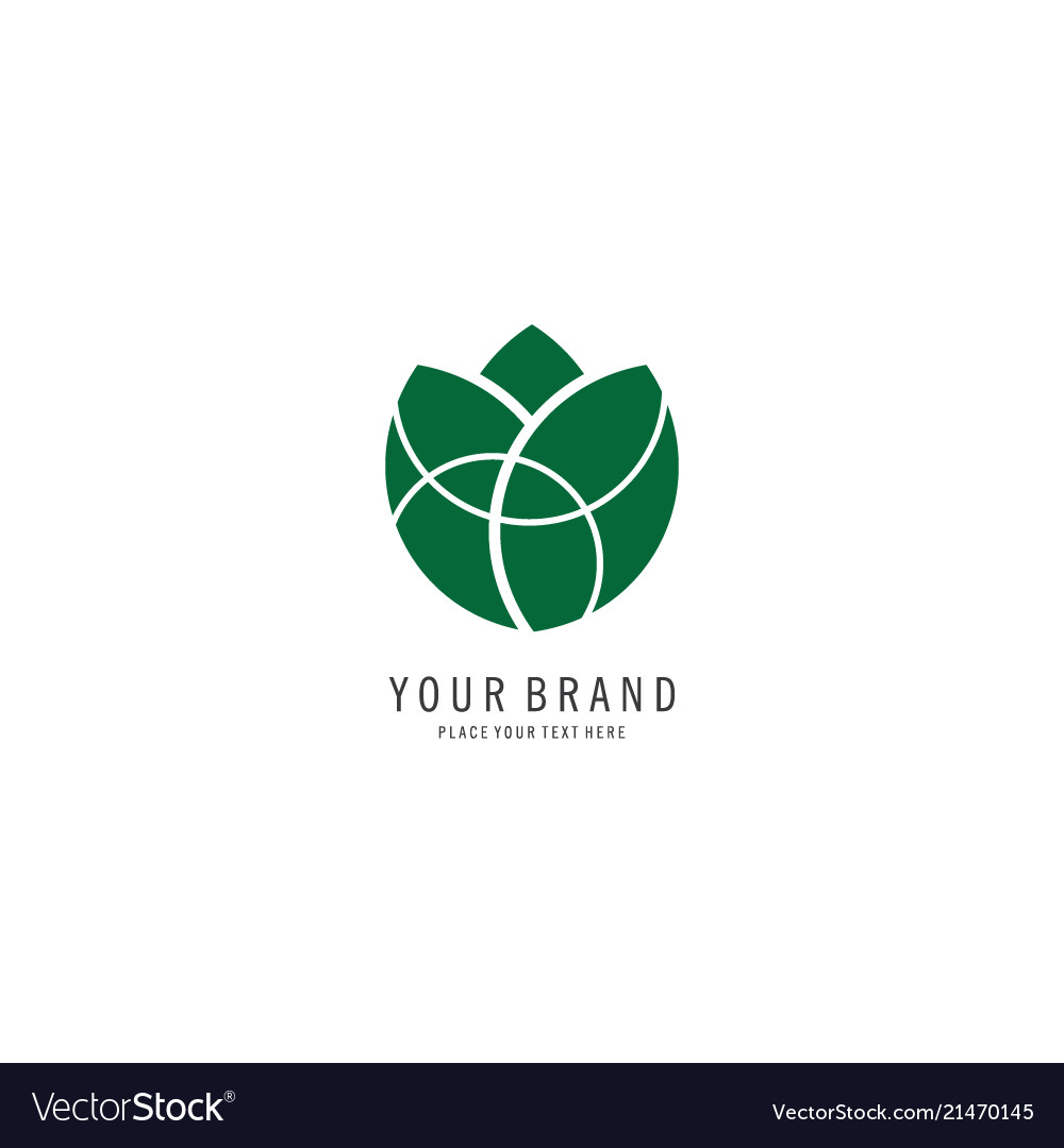 Round flower spa symbol logo vector
