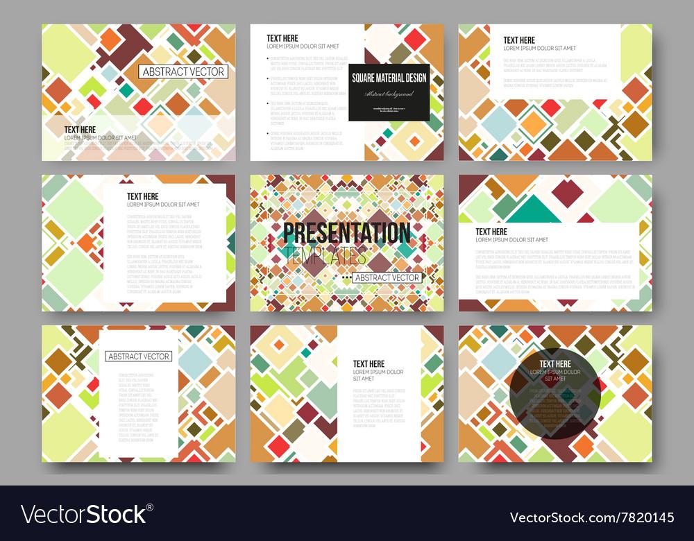 9b6bf6d599c3 Set of 9 templates for presentation slides Vector Image