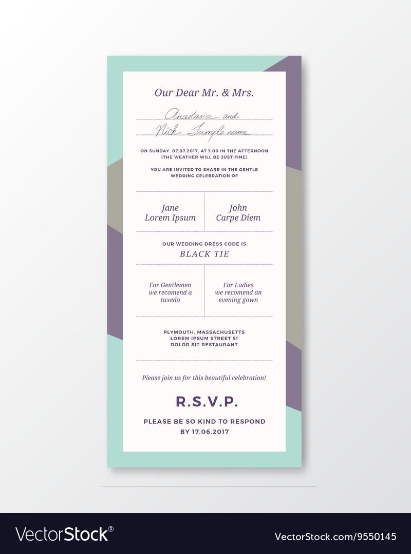 Wedding invitation template modern royalty free vector image wedding invitation template modern vector image stopboris Images