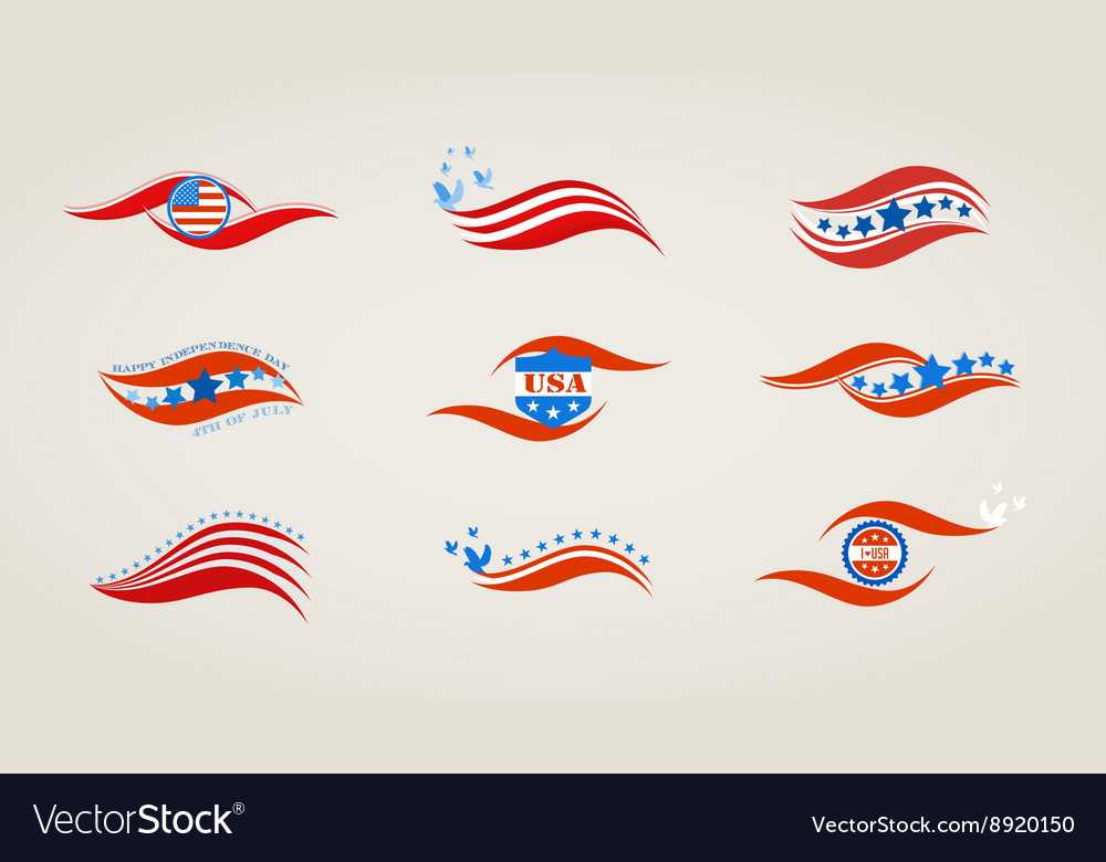 Abstract flags for USA independence day
