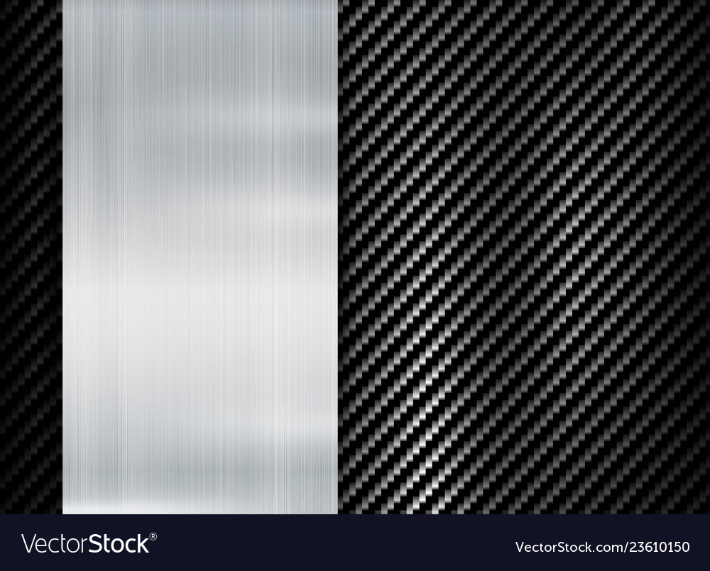 Abstract metallic frame carbon kevlar texture vector image
