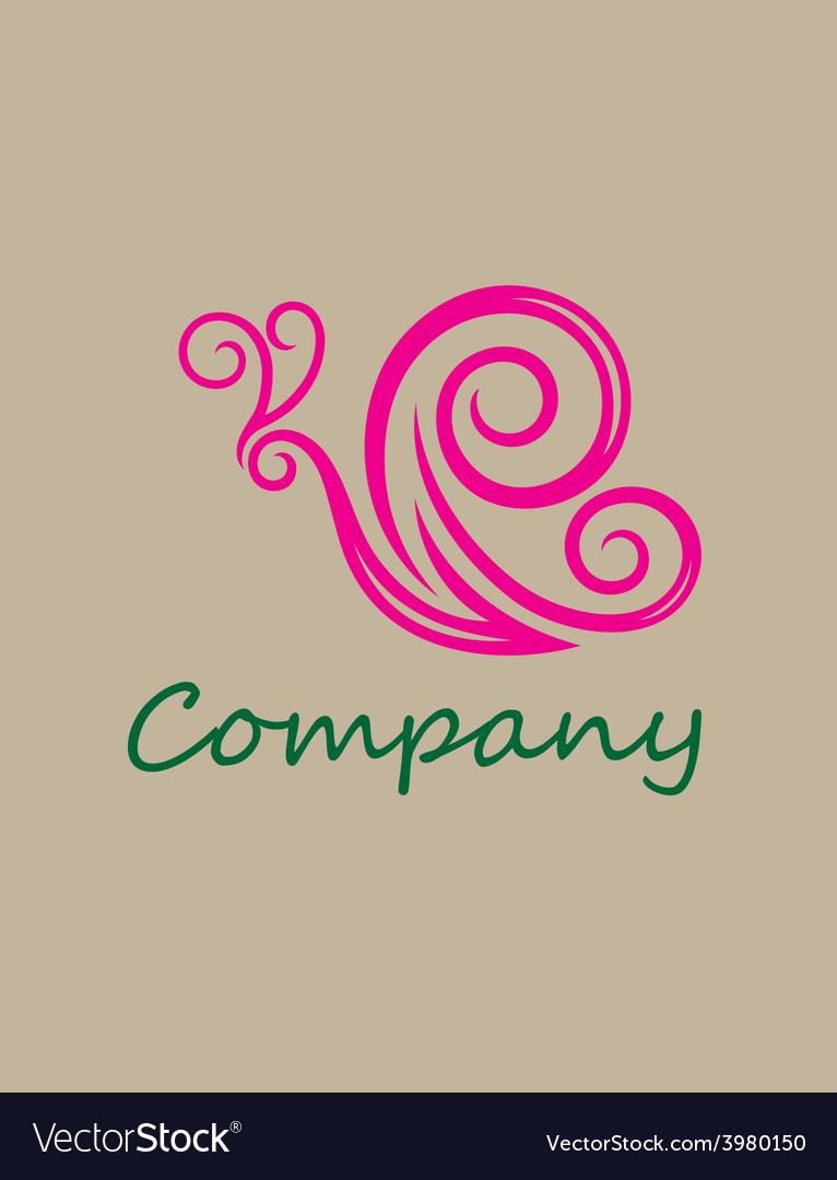Beauty butterfly logo vector image