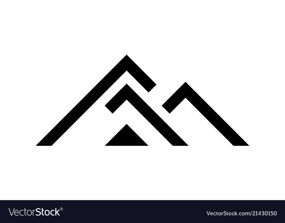 Black house logo template