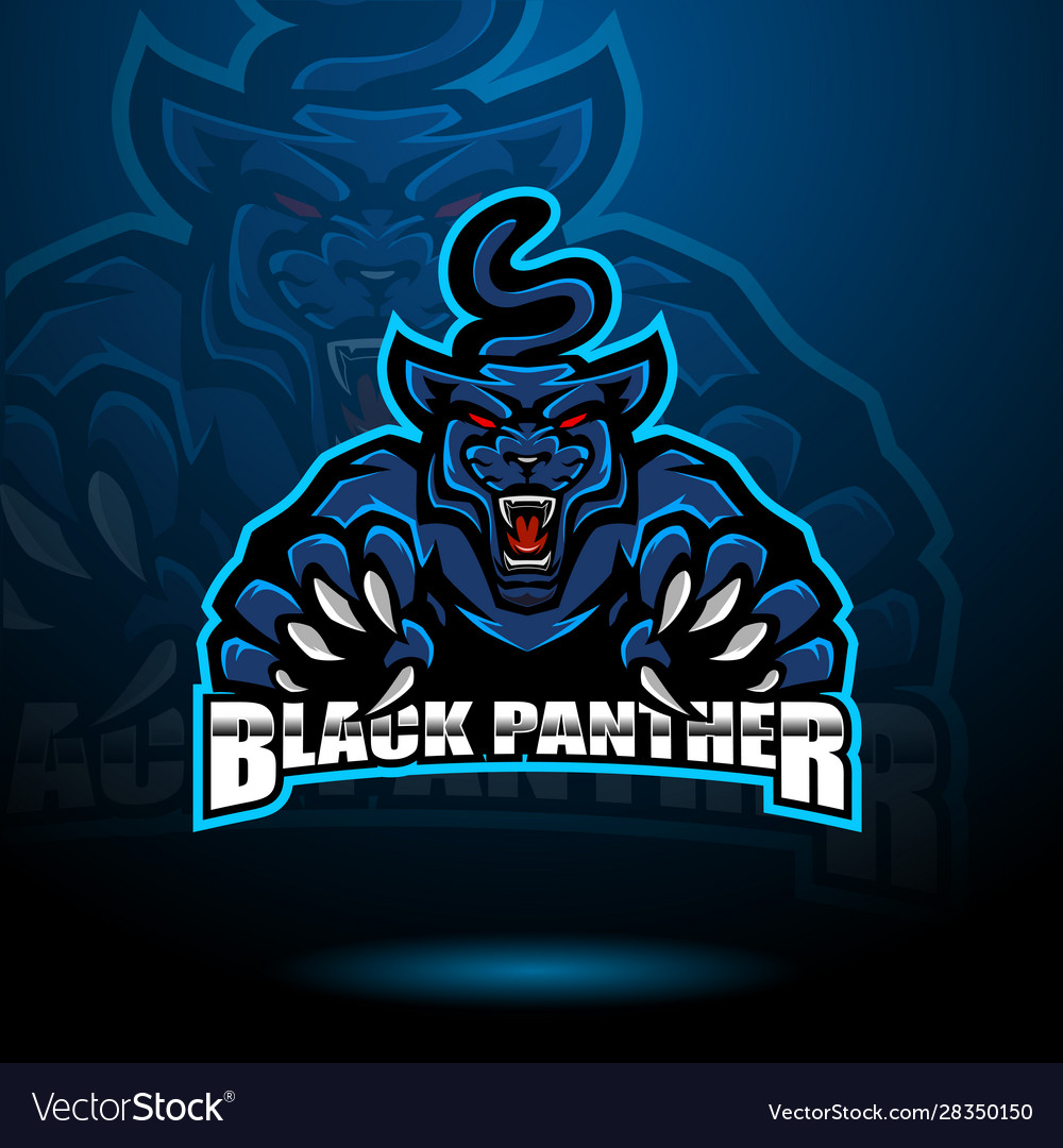 Black Panther Esport Mascot Logo Royalty Free Vector Image