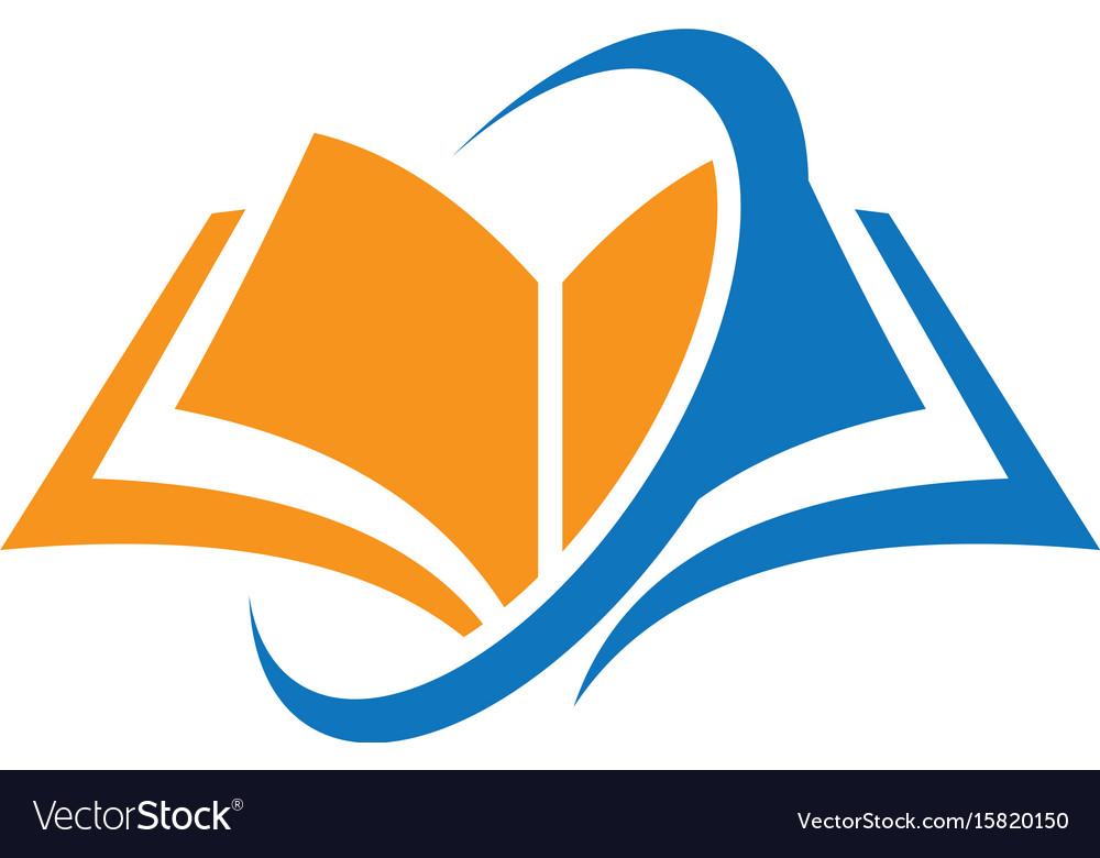 Book education arrow logo vector image