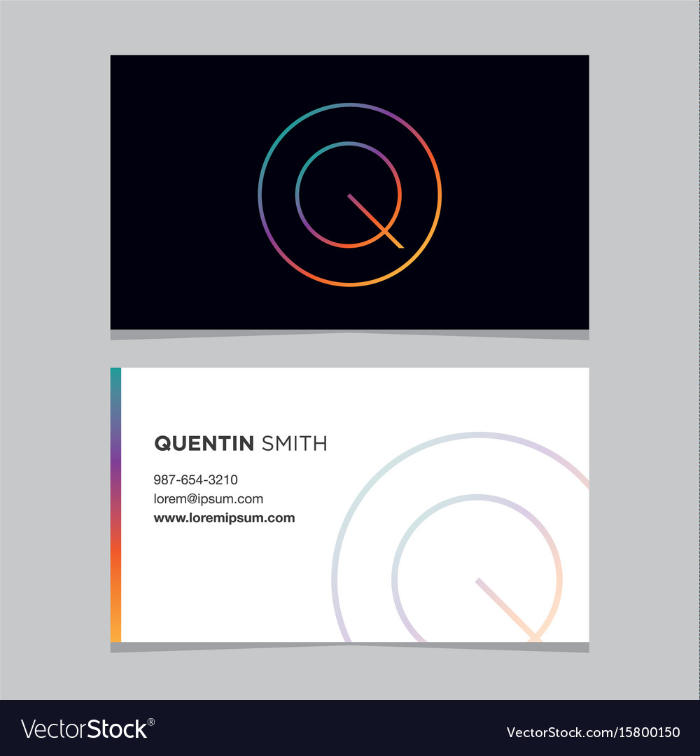 Business-card-letter-q